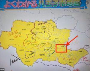 八王子の地図